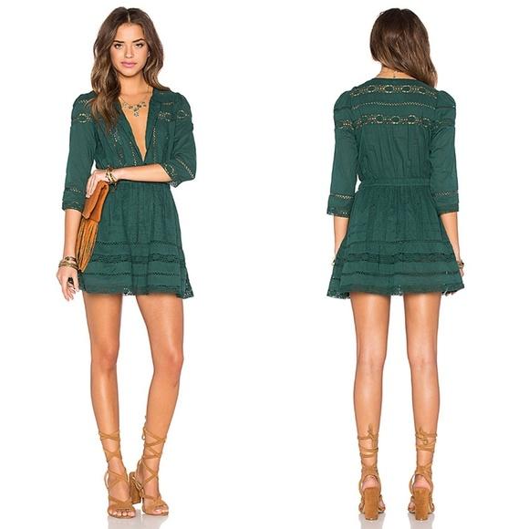 169e10a239b Tularosa X Revolve Peyton Hunter Green Mini Dress